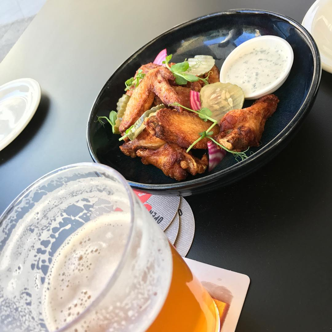 Wings and beer at gramercy