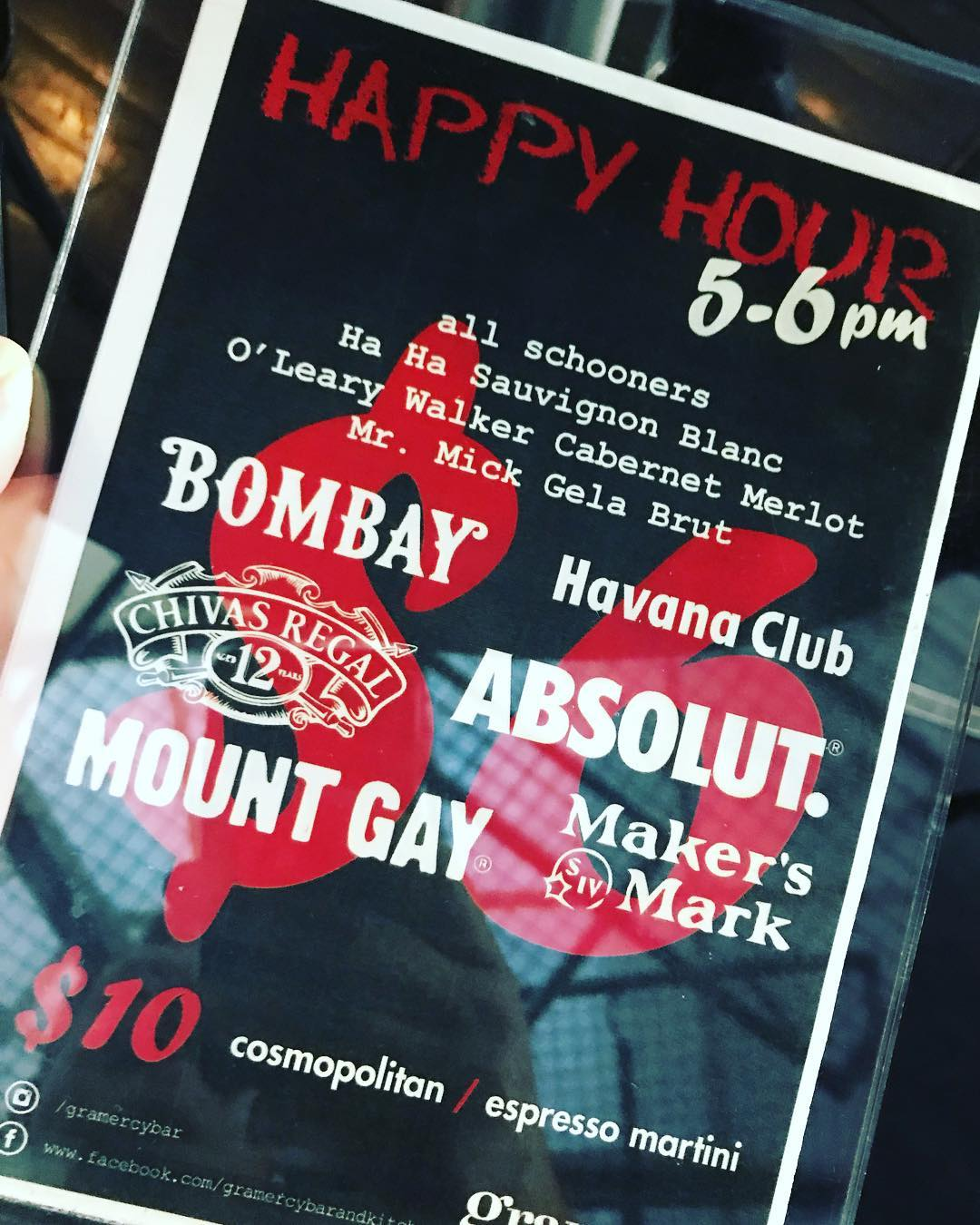 gramercy happyhour is in effect 6 selected drinks and ourhellip