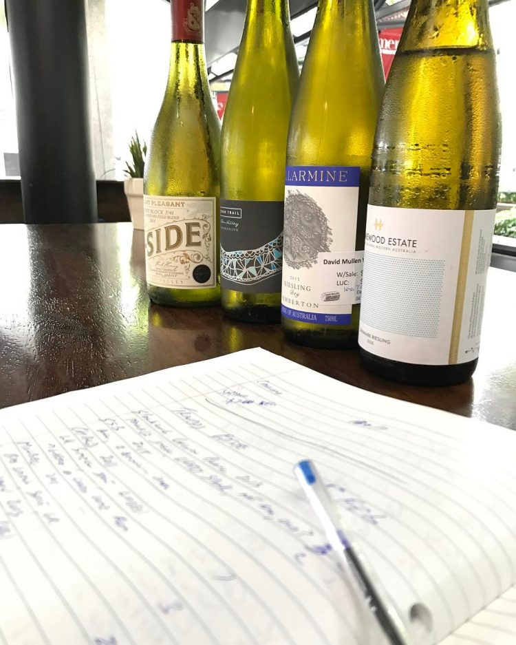 White Wine Testing in Gramercy Bar and Kitchen Perth
