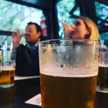 Beer tasting event at central business district pub